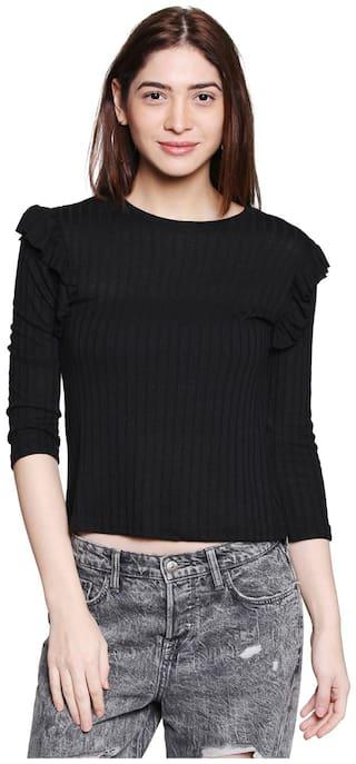 Globus Women Solid Regular top - Black