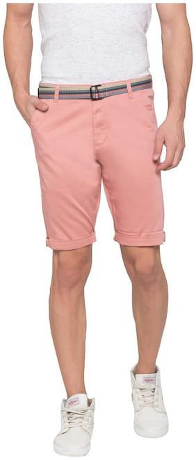 Men Solid Regular Shorts