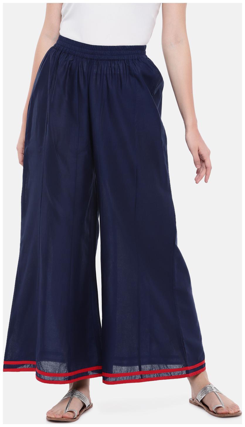 Globus Women Blue Flared fit Regular trousers
