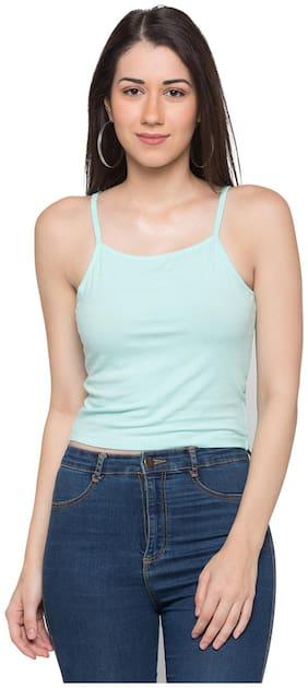 Women Striped Shoulder Strap Top