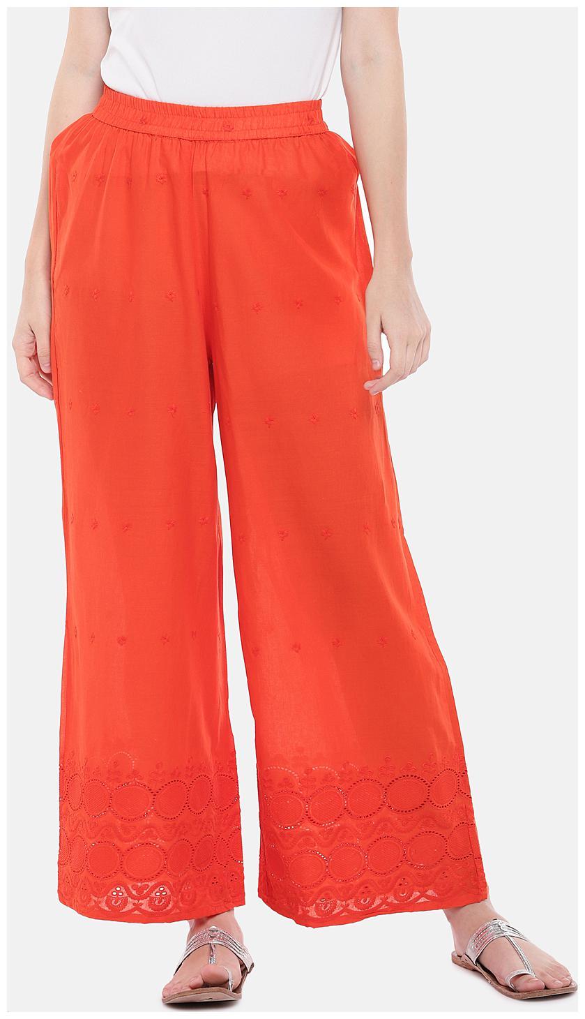 Globus Women Orange Flared fit Regular trousers