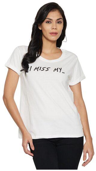 Globus Ivory Printed T-shirt