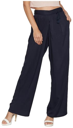Globus Navy Loose Fit Trousers