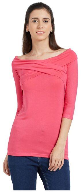 Globus Women Solid Regular Top - Pink