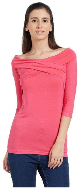Globus Pink Off Shoulder Top
