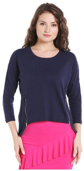 Globus Zip Detail Boxy Top