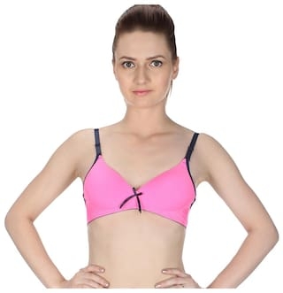 8a670e4c6 Buy Glus Neon Seamless Non Wire Push Up Bra Size - B Cup Color ...