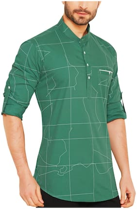 Go Stylish Men Green Regular Fit Kurta