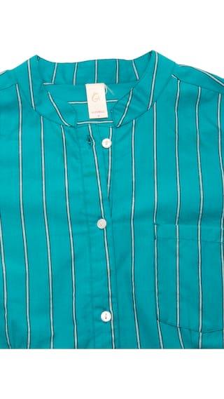 Blue Casual GOODWILL Shirt Wear Cotton Women's RCngqc6