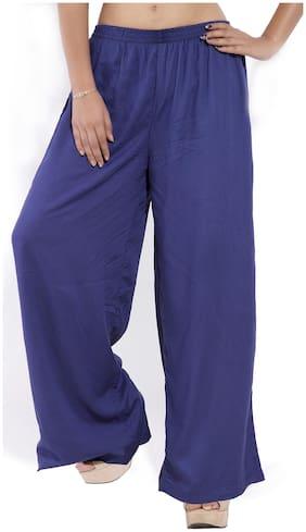 GOODWILL Women's  Casual Wear  Blue Rayon Plazzo