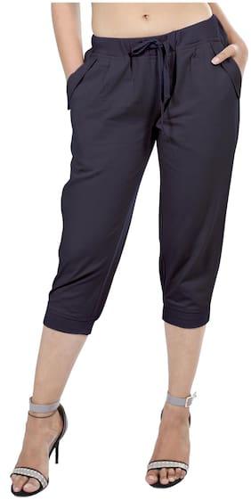 Goodwill Women Solid Regular shorts - Blue