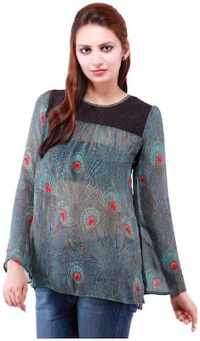 Goodwill Impex Women Printed Regular top - Grey