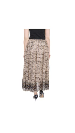 Multicolor Impex Georgette Skirt Wear Goodwill Casual lf5XbK