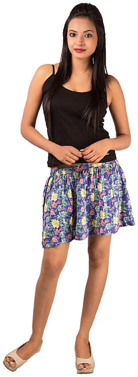 Goodwill Impex Printed Mini Skirt - Multi