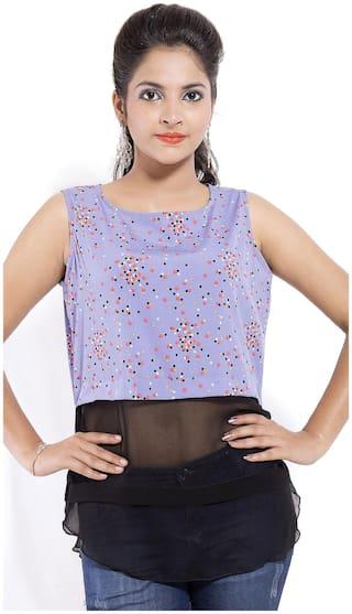 Goodwill Women Printed Regular top - Blue