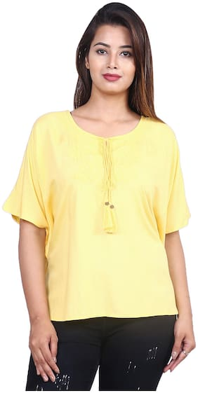 Women Embroidered Tie up Top
