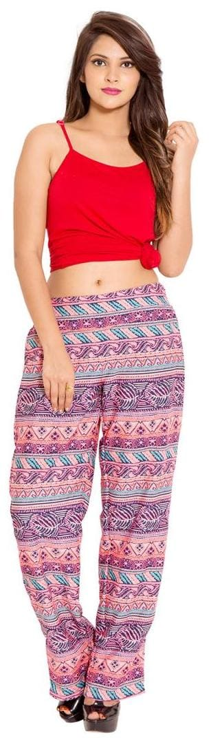 Color Casual GOODWILL Wear Poly Crepe Women's Trouser Multi IwgPH