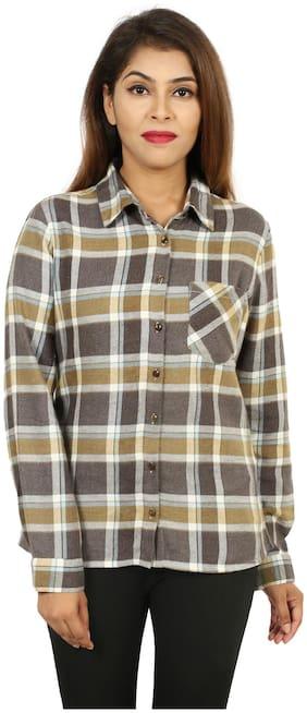 Goodwill Women Multi Checked Regular Fit Shirt