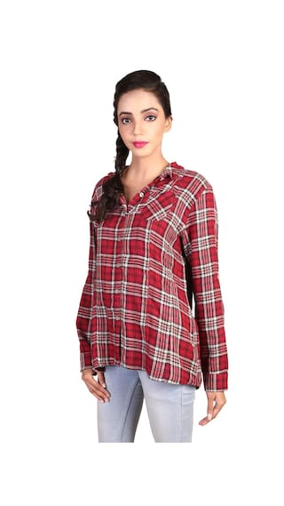 Multicolor Checkered Casual Shirt GOODWILL Women's Cotton wFSHx6q