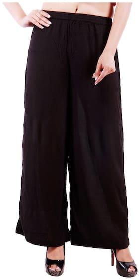 GOODWILL Women's Casual Wear Black Viscose Palazzos