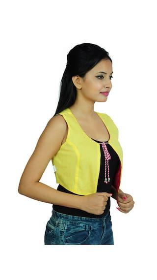 Yellow Cotton Women Jacket Casual Wear GOODWILL s eBD8n5E