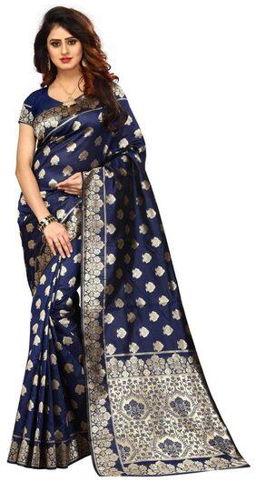 Gopal Fashion Navy Banarasi Silk Saree