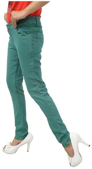 Fit Skinny Jeans Woman GOVIL;Green Denim wXqSnp