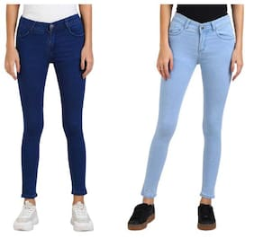 Women Skinny Fit Jeans Pack Of 2