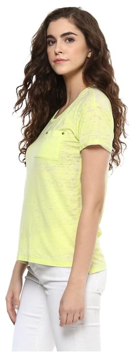 Grain Women's Yellow Pocket Top