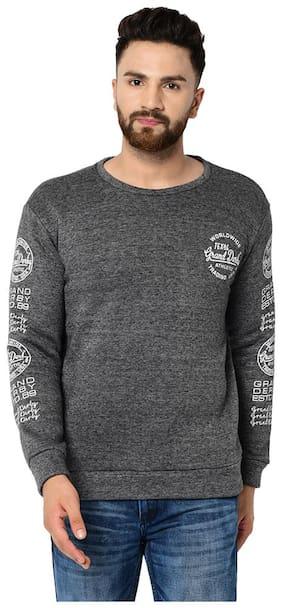 Grand Derby Full Sleeves Sweatshirt Winter Wear For Men Grey