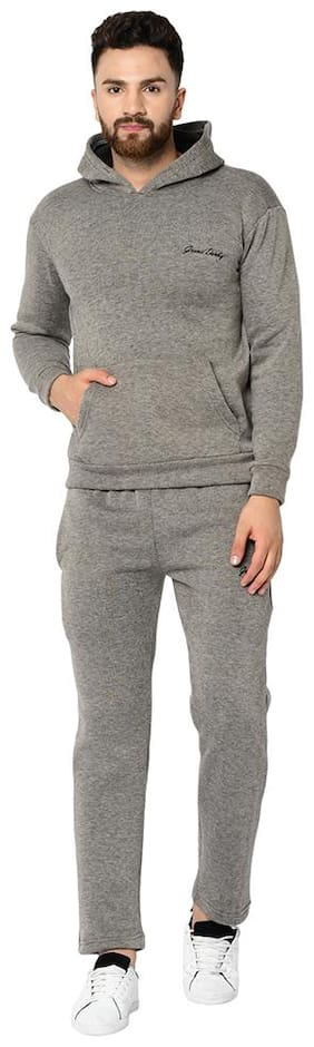 Grand Derby Men Fleece Track Suit - Grey