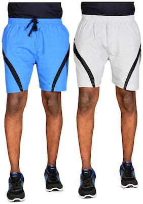 Green House Solid Basic Shorts For Men PACK OF 2