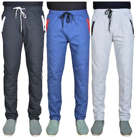 Green House Solid Track Pants For Men PACK OF 3