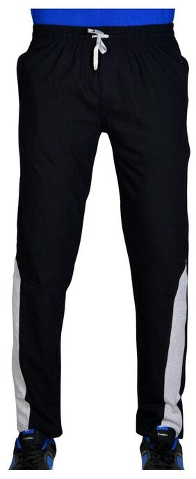Green House Men Cotton Track Pants - Black