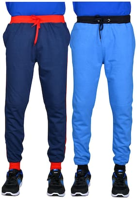 Green House Solid Track Pants For Men PACK OF 2