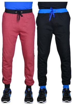 Green House Men Cotton Track Pants - Red