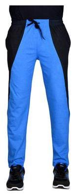 Green House Men Cotton Track Pants - Blue