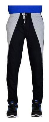 Green House Men Cotton Track Pants - Black