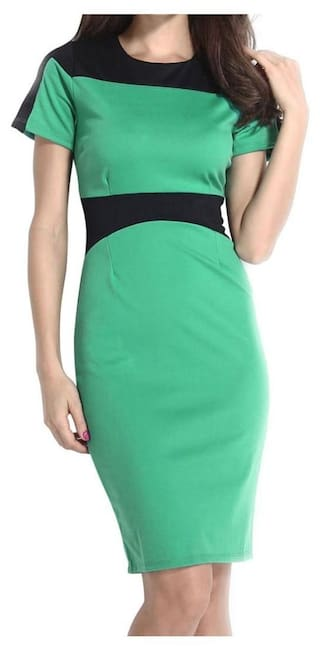 922009c4251e Buy Green Pencil Style Midi Dress Online at Low Prices in India ...