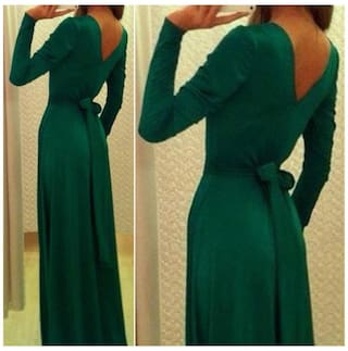 Ball Cocktail Gown Dress Party Womens Ladies Green L Formal Evening Prom wqfZt4WH