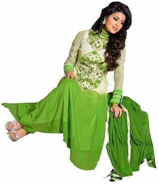 GreenViji Cotton Embroidered Salwar Suit Dupatta Material (Un-stitched)