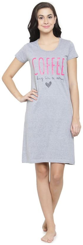 Slumber Jill Grey T-Shirt Nighty