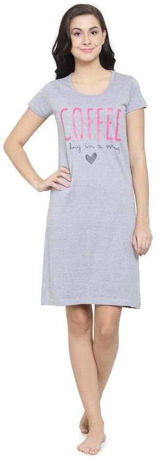 Slumber Jill Grey T-Shirt Nighty