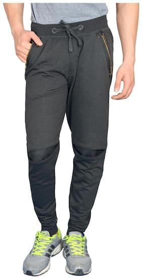 London Eye Men Cotton Track Pants - Grey