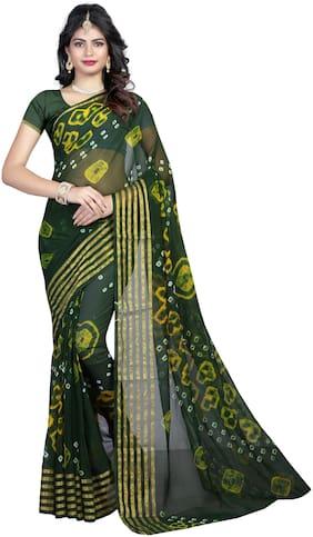 Cotton Bandhani Saree ,Pack Of 1