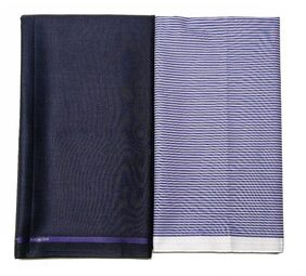 Gwalior Men Polyester Suiting - Blue