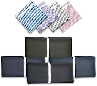 Gwalior Pack Of 6 (3 Shirts And 3 Pants Fabric) Assorted Polyester And Viscose Suiting-Shirting