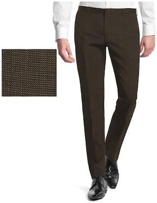 Gwalior Suitings Men Viscose Suiting - Brown
