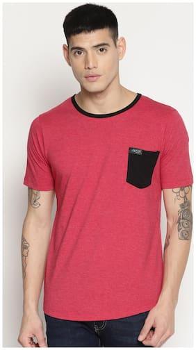 IMPACKT Men Slim fit Round neck Solid T-Shirt - Red