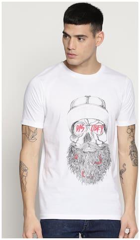 IMPACKT Men Slim fit Round neck Printed T-Shirt - White